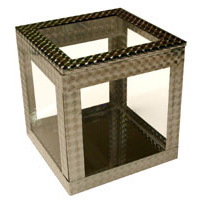 6 inch Crystal Clear Cube by Ickle Pickl