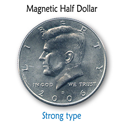 Magnetic US Half Dollar (SUPER STRONG) by Kreis Magic Trick