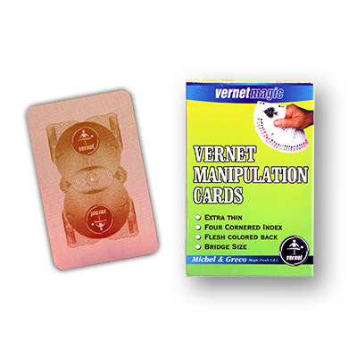 Vernet Manipulation cards (FLESH BACK BRIDGE SIZE) by Vernet Trick