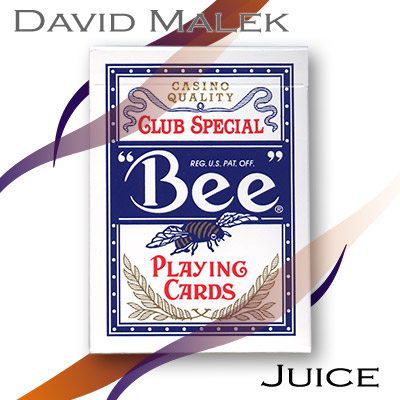 Marked Deck (Blue Bee Style Juice) by David Malek Trick