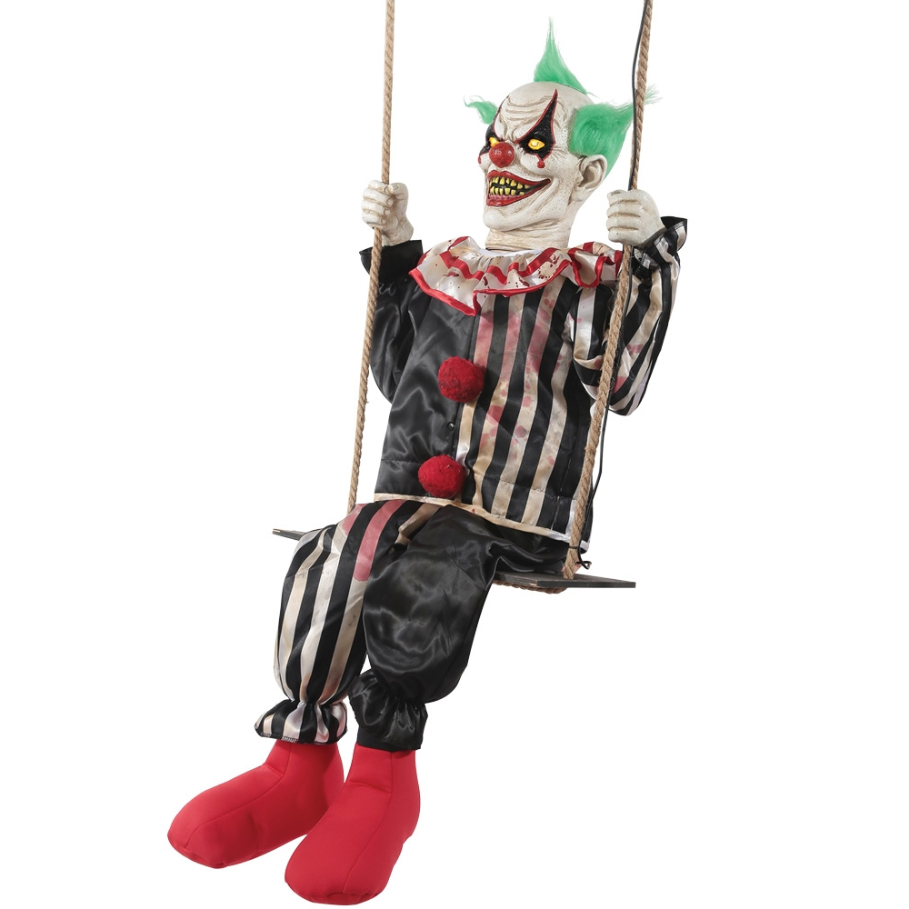 Swinging Chuckles Animated Horror Clown