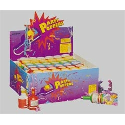 Party Poppers Box of 72