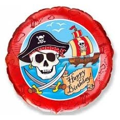Birthday Mate Pirate Ship Foil Balloon 18 inc