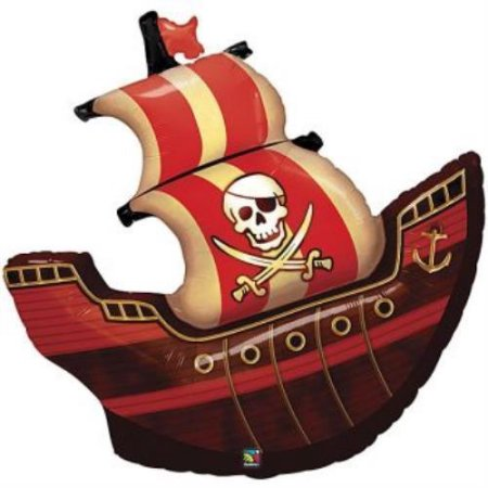 Pirate Ship Foil Balloon 40 inch
