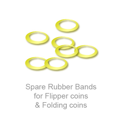Spare Rubber Bands for Flipper coins & Folding coins (25 per package) Trick