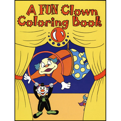 3 way coloring book clown trick - Coloring Book Magic Trick