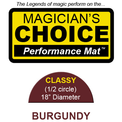 Classy Close Up Mat (BURGUNDY 18 inch) b