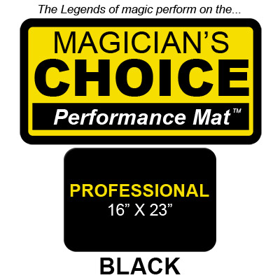 Professional Close Up Mat (BLACK 16x23) by Ronjo Trick