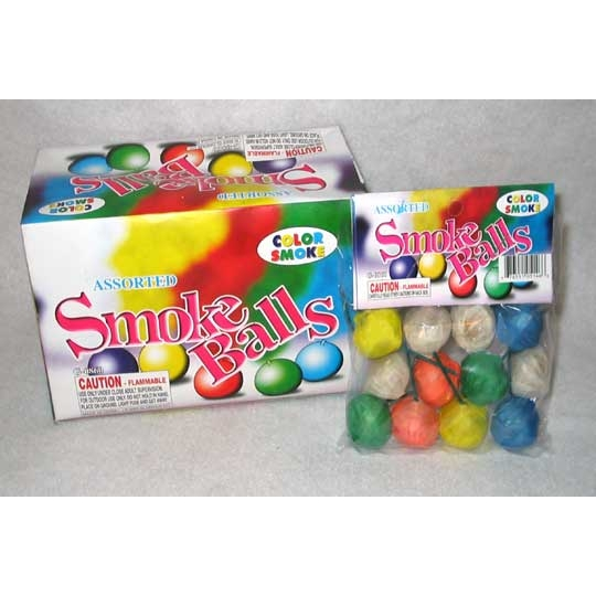Colored Smoke Balls (Box of 72)
