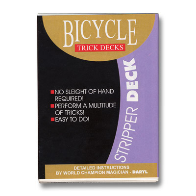 Stripper Deck Bicycle (Red) by US Playing Card Trick