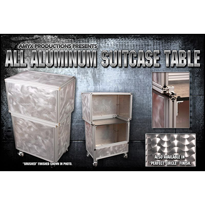 All Aluminum Suit Case Table (BRUSHED Fi