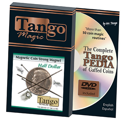 Strong Magnetic Half Dollar (w/DVD)(D0112) by Tango Trick