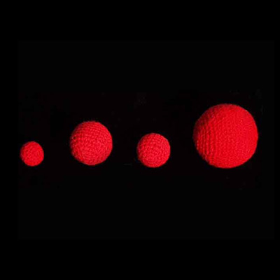 3/4 inch Crochet Balls (Red) (1 ball = 1 unit) by Uday Trick