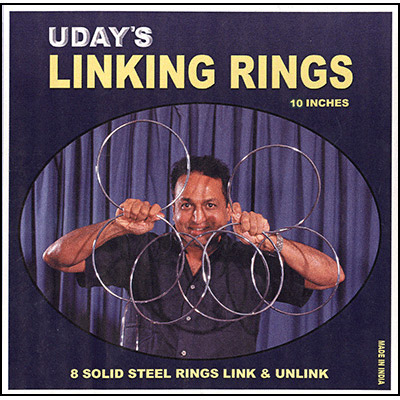 10 inch Linking Rings (8) by Uday Trick