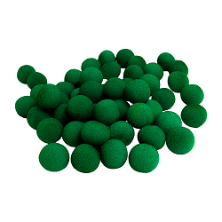 1 inch Super Soft Sponge Ball (Green) Ba