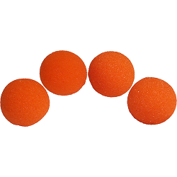 1.5 inch HD Ultra Soft Orange Sponge Bal