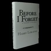 Before I Forget by Harry Lorayne Book